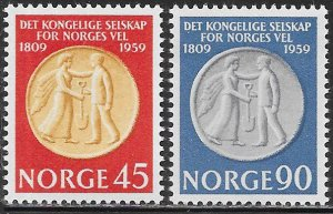 Norway 376-377 MNH - Norway's Wellfare