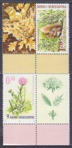 2007 Bosnia Herzegovina 478-479Tab Fauna and flora