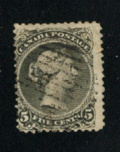 Canada #26  used  VF 1875   PD