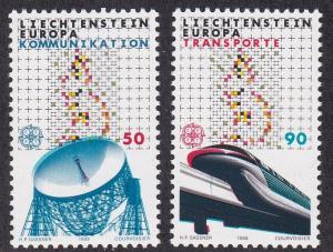 Liechtenstein # 880-881, Europa - High Speed Monorail, NH, 1/2 Cat.