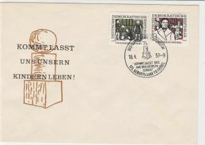 german democratic republic 1957-9 stamps cover ref 19179