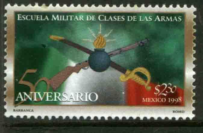 MEXICO 2064, Military School of Arms. 50th Anniv. MINT, NH. VF. (69)