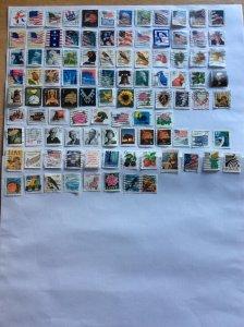 USA 100 stamps - Lot F
