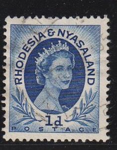 Rhodesia & Nyasaland - #142 Queen Elizabeth II - Used