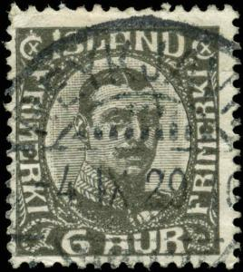 Iceland  Scott #113 Used Sock on Nose Cancel