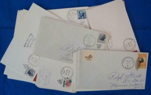 75 Railroad Post Office (RPO) Covers Fm 1960's (S17325)