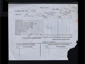 1884 - Australia Sheet - Tasmanian Letter Bill for Green Ponds [B05_051]