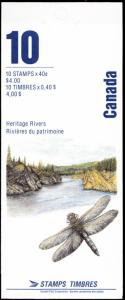 Canada Scott 1325b Rivers MNH Booklet BK131 CV $11