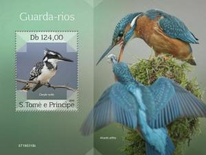 Z08 ST190310b Sao Tome and Principe 2019 Kingfishers MNH ** Postfrisch
