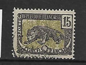 FRENCH CONGO, 40, USED, LEOPARD