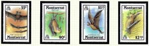 Montserrat 667-70 MNH 1988 Tropical Bats
