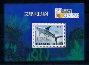 [47084] Korea 1993 Marine life Shark MNH Sheet