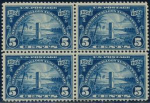 #616 BLOCK OF 4 VF+ OG NH CV $130.00 BQ8476