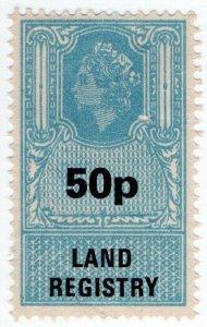 (I.B) Elizabeth II Revenue : Land Registry 50p