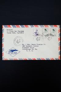 Cambodia Stamped 1958 Airmail Cover