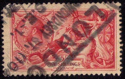 Great Britain Sc 174a De La Rue Printing Used Very Fine Cat.$375.00