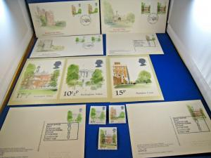 GREAT BRITAIN  -  SCOTT # 910, 913, 914   Singles & Post CArds     MNH  &   (gg)