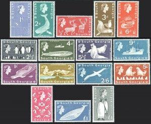 South Georgia 1-16,Wmk314,MNH.Definitive.Reindeer,Penguins,Seals,Whale,Ship,1963