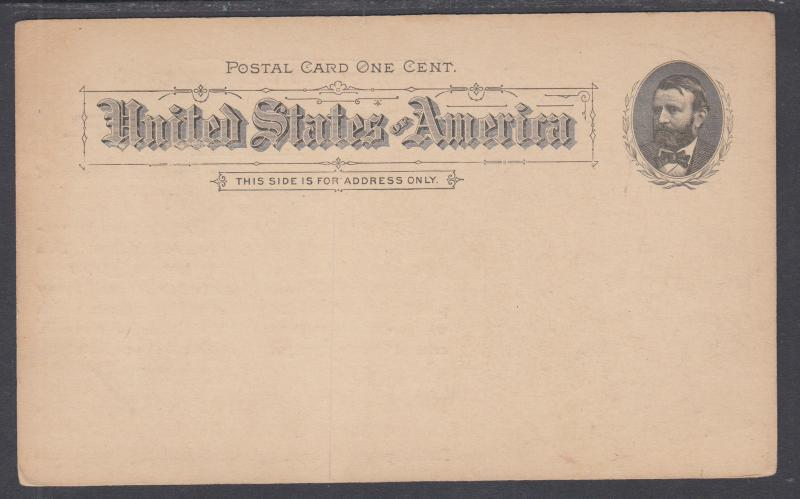 US Sc UX10, c. 1894 Illustrated Advertising Postal Card, Chocolates & Cocoas