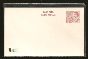 Canada UX101 Pre-stamped Postcard Unused