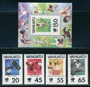 Vanuatu - Seoul Olympic Games MNH Sports Set (1988)