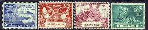 ST.KITTS-NEVIS KG VI 1949 U.P.U. 75th. Anniversary Set SG 82 to  SG 85 MINT