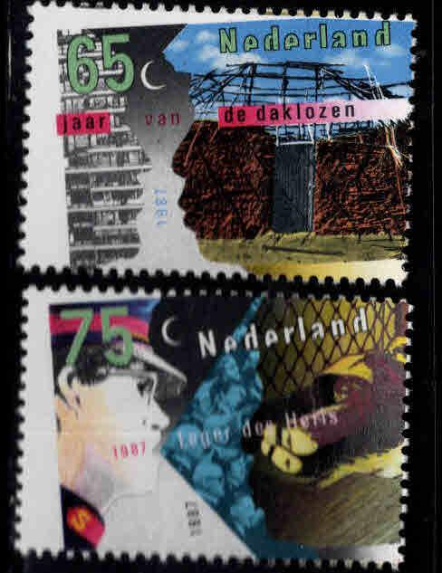 Netherlands Scott 711-712  MNH** 1987 set