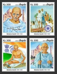 Z08 IMPERF ANG190109a ANGOLA 2019 Mahatma Gandhi MNH ** Postfrisch
