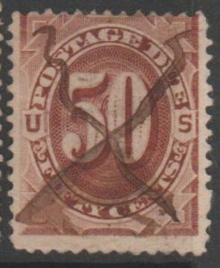 U.S. Scott #J21 Postage Due Stamp - Used Single - IND