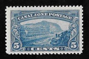 CANAL ZONE #107 5 cents Gillard Cut Stamp Mint OG NH XF