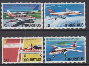 Mauritius 440-443 Airplanes MNH VF