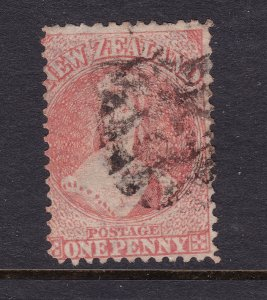 New Zealand an old perf QV 1d orange perf 12.5 star watermark