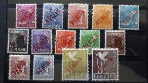 Berlin 1949. - West Germany - Overprint in red ** Signed ** MNH Complete set