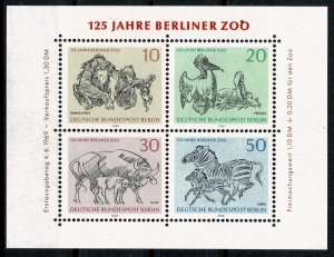 GERMANY BERLIN 1969 125th ANNIV BERLIN ZOO MINT (NH) SG MSB332 P.14x13.5 SUPERB