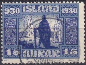 Iceland #156 F-VF Used CV $11.00 (Z6465)