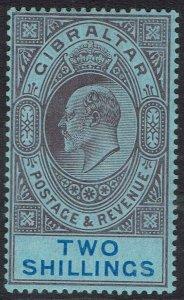 GIBRALTAR 1906 KEVII 2/-