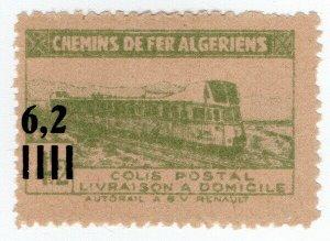(I.B) France Colonial Railway : Algeria Chemins de Fer 6.2F on 4.2F OP