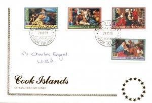 Cook Islands 1042-1045 Christmas Pen FDC