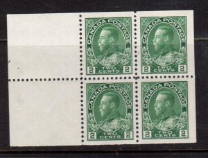 Canada #107b Extra Fine Never Hinged Booklet Pane