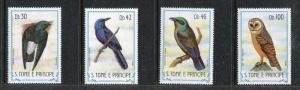 St Thomas & Prince 745-748 MNH Birds Western Barn Owl, Starling 1983. x29111