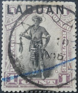 Labuan 1894 One Cent SG 62 used