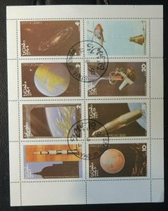 Oman 1980  sheet of 8 space exploration used  space