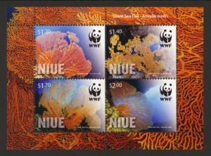 Niue Sc# 881a MNH WWF / Giant Sea Fan (S/S)