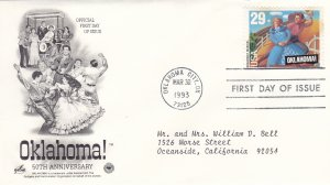 1993, 50th Anniv. Oklahoma!, Artcraft/PCS, FDC (E9210)