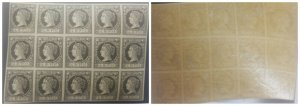 O) 1862 SPANISH ANTILLES ,  QUEEN ISABELLA II  SC 16  1/4r black on pale buff -