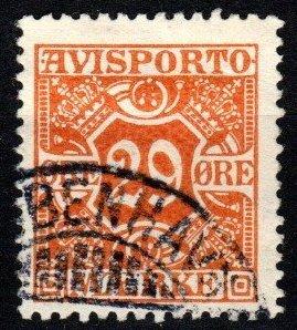 Denmark #P17  F-VF Used CV $8.00 (X8950)