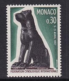Monaco  #662   MNH  1967  dog    Egyptian statue