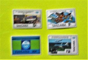Tanzania - 245-49, MNH Set. Int. Civic Aviation, 40th Anniversary. SCV - $2.80
