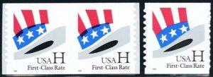 3264, Mint NH H Coil Pair With Color Shift Error & Normal - Stuart Katz