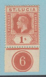 ST. LUCIA 71 MINT HINGED OG * NO FAULTS VERY FINE!